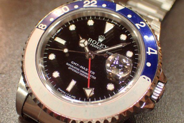 トリチウム夜光・シングルバックル GMT-MASTER I REF.16700 赤青ベゼル