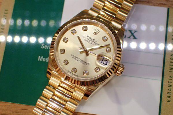 豪華絢爛 金無垢時計
