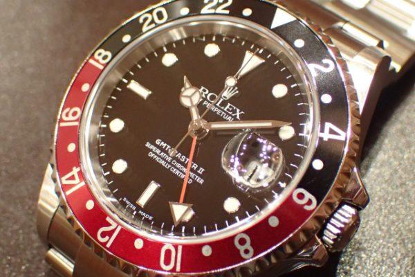 初代のベゼルカラー GMT-MASTER II REF.16710 赤黒ベゼル