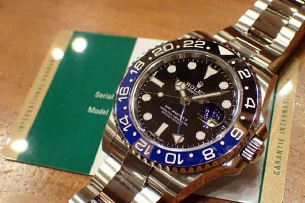 セラミックのブルーカラーが美しい Ref.116710BLNR GMTマスターII