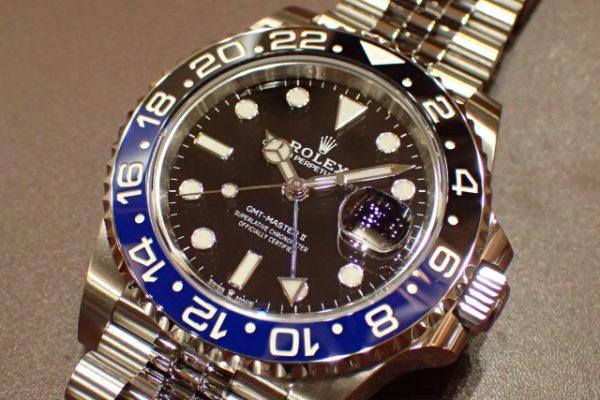 ジュビリーブレスレットのバットマン GMT‐MASTER II REF.126710BLNR