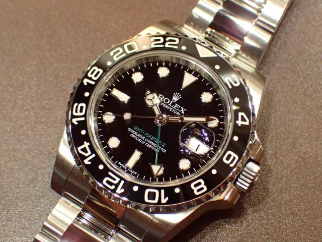 グリーンの24時間針 GMT-MASTER II REF.116710LN