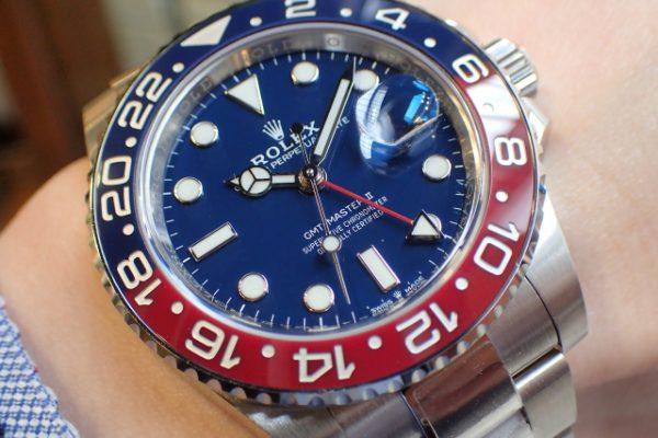 赤×青×青の金無垢GMTマスターII Ref.126719BLRO